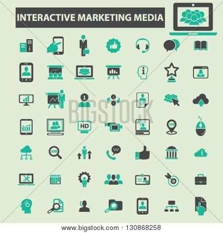 interactive marketing media icons