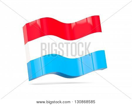 Wave Icon With Flag Of Luxembourg
