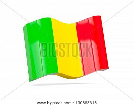 Wave Icon With Flag Of Mali