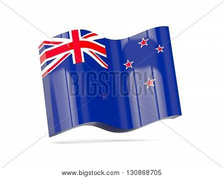 Wave Icon With Flag Of New Zealand