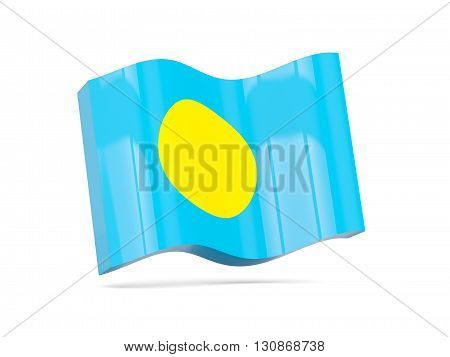 Wave Icon With Flag Of Palau