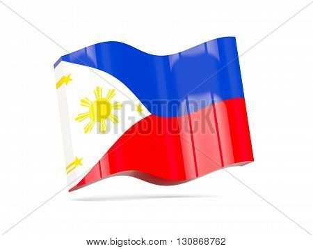 Wave Icon With Flag Of Philippines