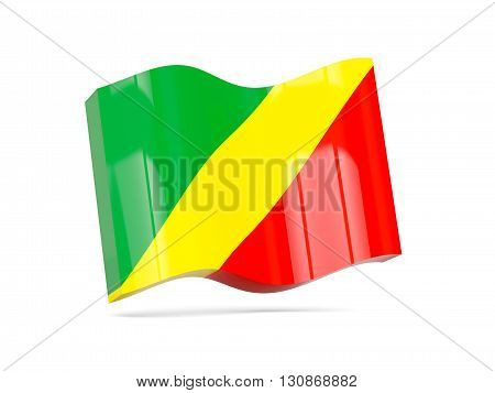 Wave Icon With Flag Of Republic Of The Congo