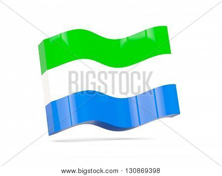 Wave Icon With Flag Of Sierra Leone