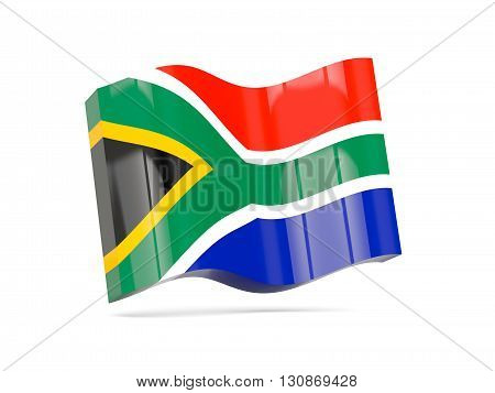 Wave Icon With Flag Of South Africa