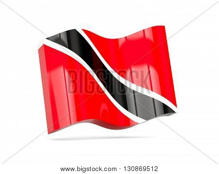 Wave Icon With Flag Of Trinidad And Tobago
