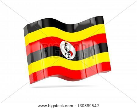 Wave Icon With Flag Of Uganda