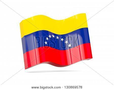 Wave Icon With Flag Of Venezuela