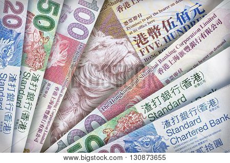 Hong Kong Dollar Background