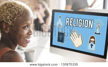 Religion Faith Believe Belief Praying Religion Concept