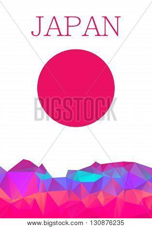 Polygon design Abstract Japan element visit Japan. Vector illustration