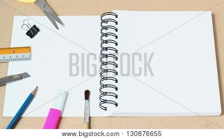 Blank Paper And Lots Of Office Supplies