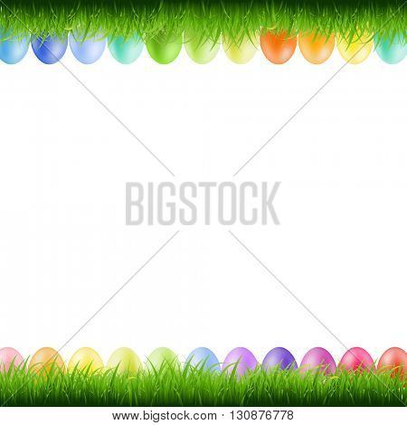 Grass Borders With Easter Eggs