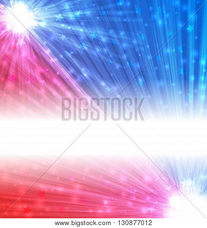Illustration Abstract Background for National Holidays, Copy Space for Your Text - Vector