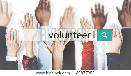 Volunteer People Help Sharing Concept