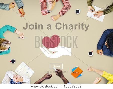 Join a Charity Help Invitation Care Love Concept
