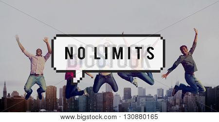 No Limits Free Inspire Positive Thinking Success Concept