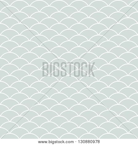 Seamless ornament. Modern stylish geometric light blue pattern with repeating white elements