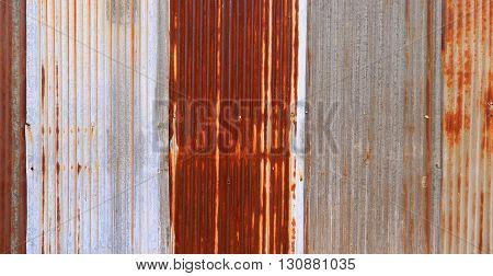Old Rusty Galvanized Zinc. Texture Background