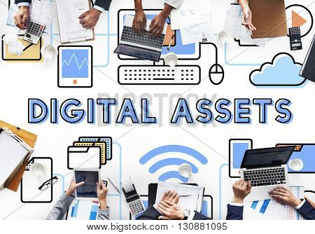 Digital Assets Accessible Unlock Information Concept