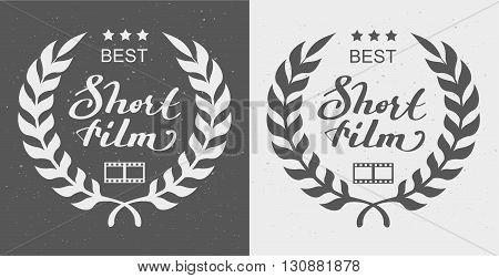 Best short film. Laurel Wreath Award. Illustration in vector format