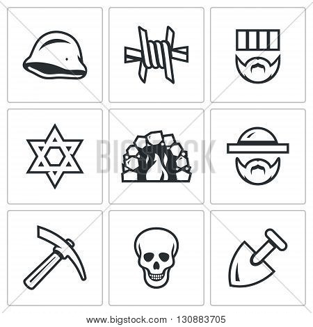 Holocaust during Second World War. Symbols Collection
