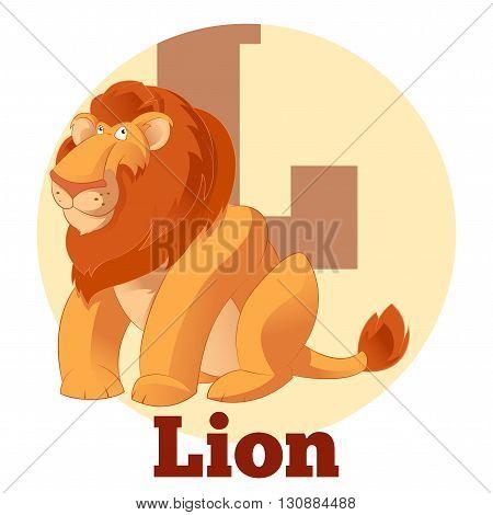 Vector image of the ABC Cartoon Lion
