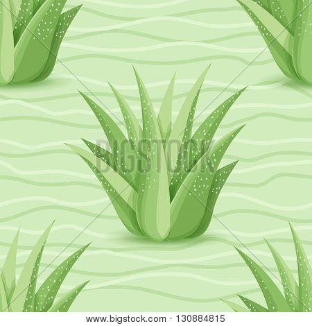 Succulents Seamless Pattern