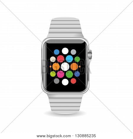 Vector Illustration Smart Watch isolated on white background