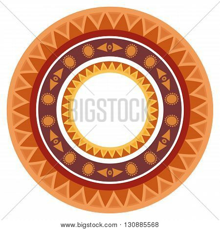 Set of round frames with ethnic pattern and place for text. Vector elements for design of postcard cards scrapbooking invitations and your creativity
