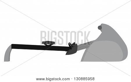 Vector flat illustration of rowing machine. Vector element for your design and infographics