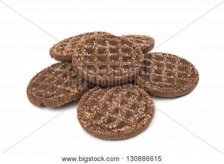 bakery chocolate cookies isolated on white background