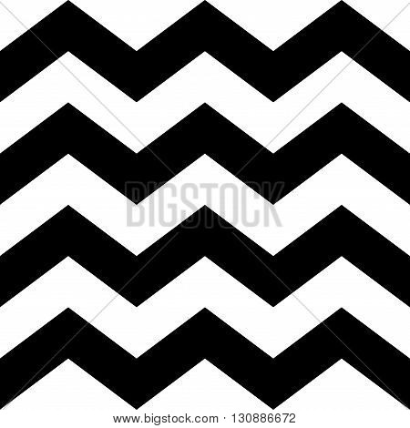 Zig zag lines seamless pattern. Black and white vintage texture. Abstract geometric modern design. Fashion graphic. Decorative background for wallpaper textile paper wrapping. Vector Illustration.