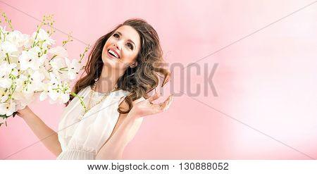 Smiling brunette beauty
