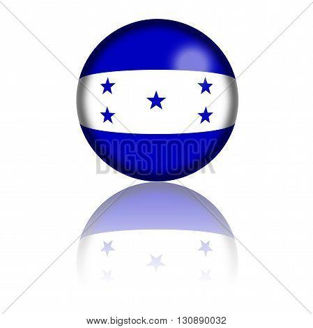Honduras Flag Sphere 3D Rendering