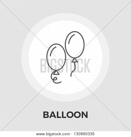 Balloon Icon Vector. Flat icon isolated on the white background. Editable EPS file. Vector illustration.