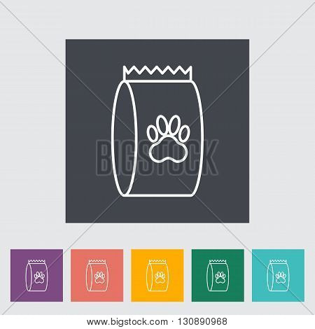 Pet food bag icon. Line flat vector related icon for web and mobile applications. It can be used as - logo, pictogram, icon, infographic element. Vector Illustration.