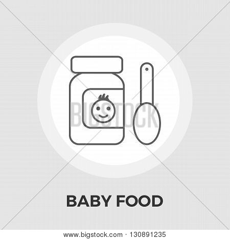 Baby Food Icon Vector. Flat icon isolated on the white background. Editable EPS file. Vector illustration.