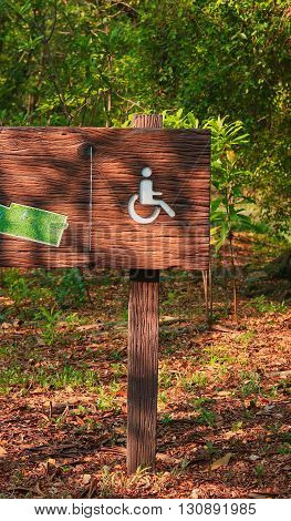Handicap Sign In Public Park