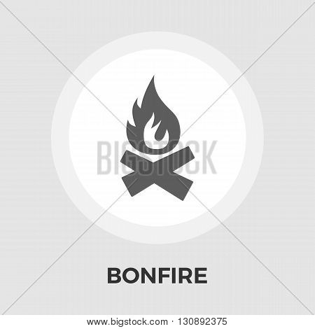 Bonfire icon vector. Flat icon isolated on the white background. Editable EPS file. Vector illustration.