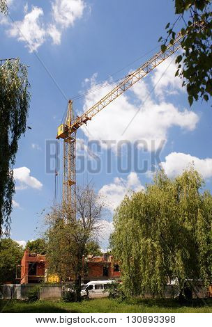 The process of construction of an apartment building (new building Ukraine).