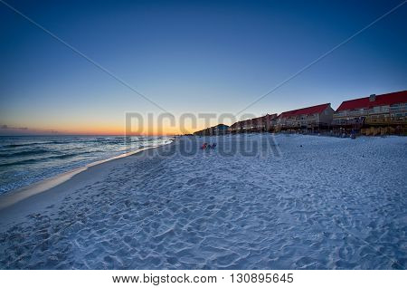 a sunset at the beach in florida