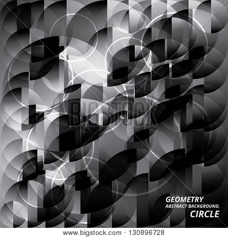 Geometry Abstract Background Pattern Circle Vector Illustration