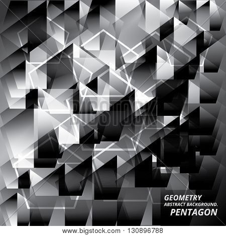 Geometry Abstract Background Pattern Pantagon Vector Illustration