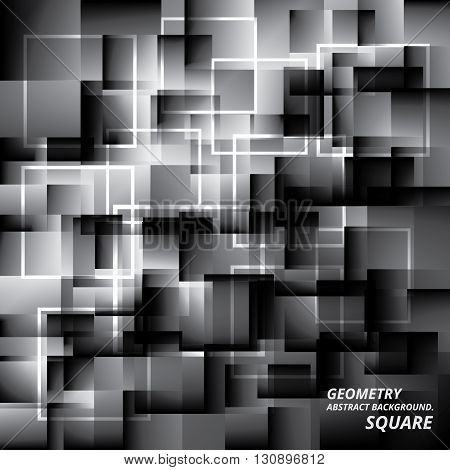 Geometry Abstract Background Pattern Square Vector Illustration