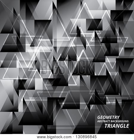 Geometry Abstract Background Pattern Triangle Vector Illustration