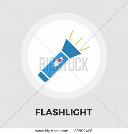 Flashlight icon vector. Flat icon isolated on the white background. Editable EPS file. Vector illustration.