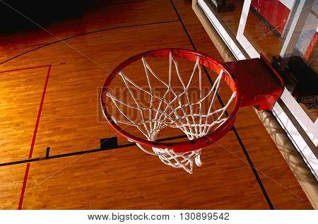 ring the basket ball good corner to