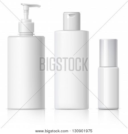 Realistic Cosmetic Bottle Can Sprayer Container.