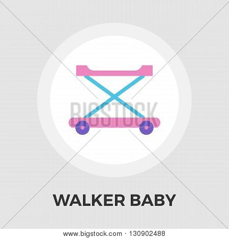 Walker baby icon vector. Flat icon isolated on the white background. Editable EPS file. Vector illustration.
